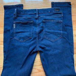 Paige denim dark-washed straight leg jeans